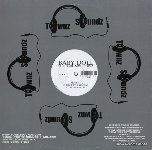 BABY DOLL the foul mouf diva BF001 - back cover