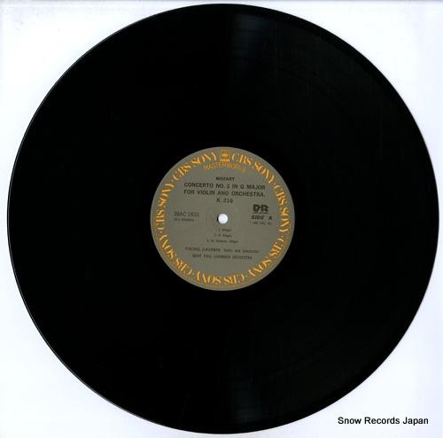 ZUKERMAN, PINCHAS mozart; violin concerti nos.3 & 5 28AC1631 - disc