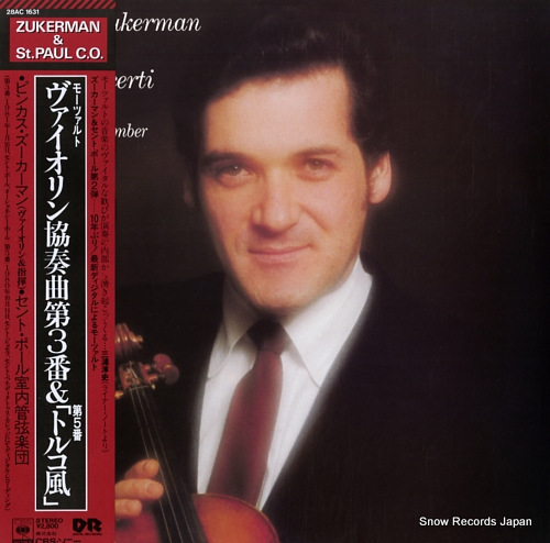 ZUKERMAN, PINCHAS mozart; violin concerti nos.3 & 5 28AC1631 - front cover