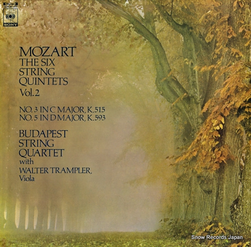 BUDAPEST STRING QUARTET mozart; the six string quartets vol.2 / no.3 and no.5 SOCM105 - front cover
