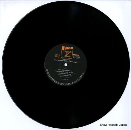 RUBINSTEIN, ARTUR chopin; konzert nr.2 fur klavier op.21 RCL-3324 - disc