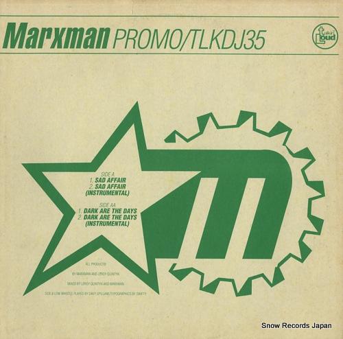 MARXMAN sad affair / dark are the days TLKDJ35 - back cover