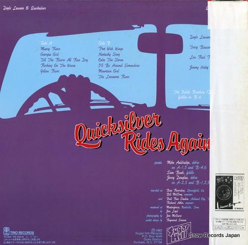 LAWSON, DOYLE, AND QUICKSILVER quicksilver rides again PA-20018 - back cover
