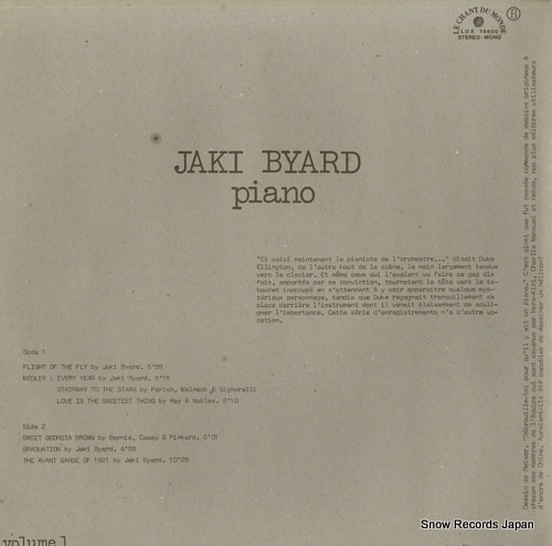 BYARD, JAKI flight of the fly LDX74600 - back cover