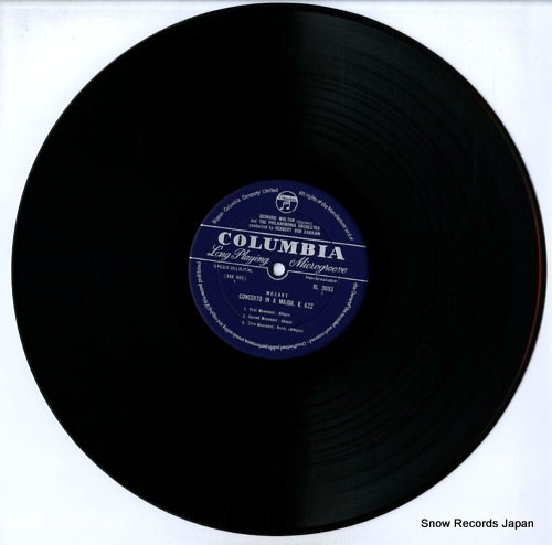 KARAJAN, HERBERT VON mozart; clarinet concerto / horn concertos nos.2 & 4 RL-3093 - disc