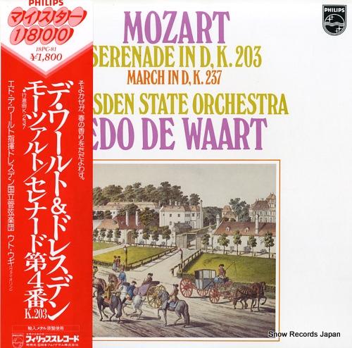 WAART, EDO DE mozart; serenade in d, k.203 / march in d, k.237 18PC-81 - front cover