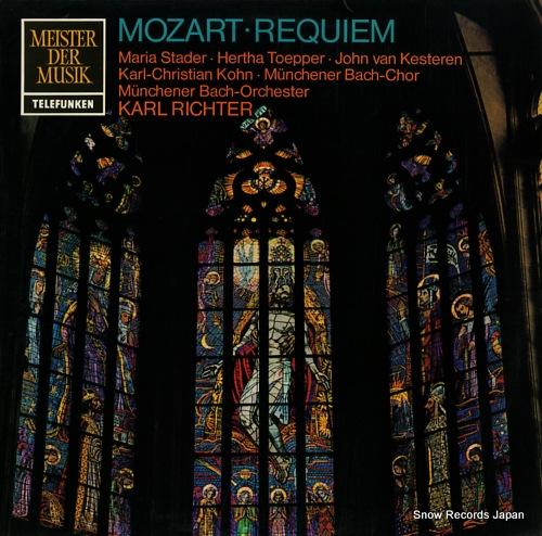 RICHTER, KARL mozart; requiem SMT1160 - front cover