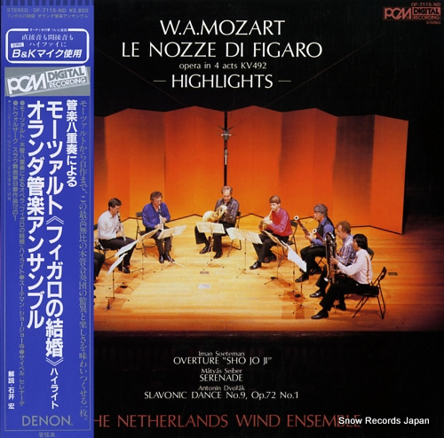NETHERLANDS WIND ENSEMBLE, THE mozart; le nozze di figaro (opera in 4 acts kv492) highlights OF-7115-ND - front cover
