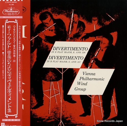 VIENNA PHILHARMONIC WIND GROUP, THE mozart; divertimento, k.anh.226, 227 G-10559 - front cover