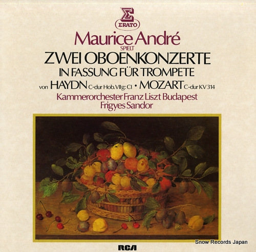 ANDRE, MAURICE haydn/mozart; trompetenkonzerte ZL30667 - front cover
