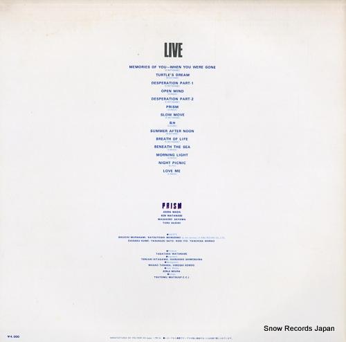 PRISM live MRA9646/7 - back cover
