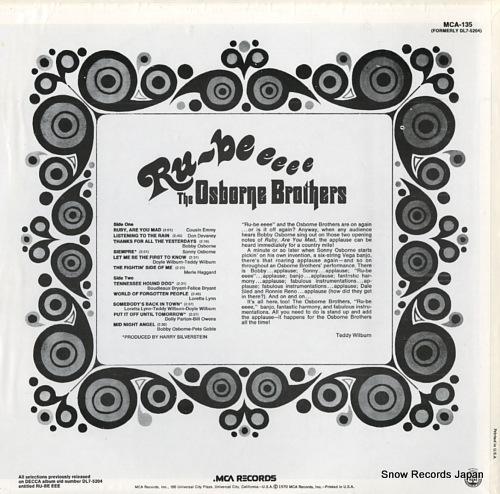 OSBORNE BROTHERS, THE ru-be eeee MCA-135 - back cover