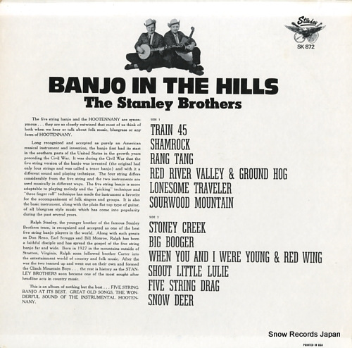STANLEY BROTHERS, THE - banjo in the hills / 5-string banjo - SK-872/K-872