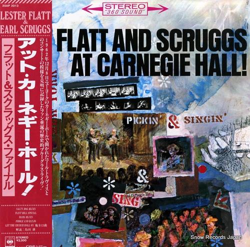 FLATT, LESTER, AND EARL SCRUGGS flatt and scruggs at carnegie hall! 20AP2013 - front cover