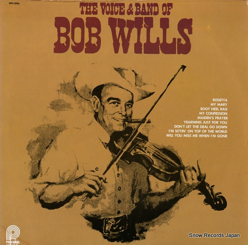 WILLS, BOB the voice & band of bob wills SPC-3592 - front cover