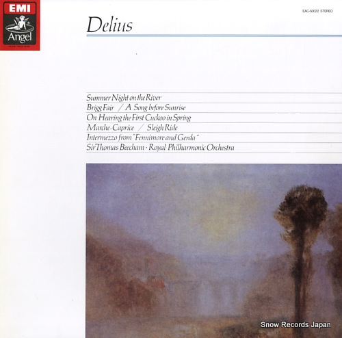 BEECHAM, THOMAS delius; summer night on the river EAC-50022 - front cover