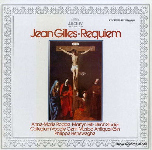 HERREWEGHE, PHILIPPE jean gilles; requiem 28MA0041 - front cover