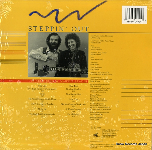 KING, CHARLIE / MARTHA LEADER steppin' out FF492 - back cover