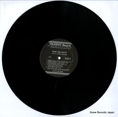 WALKER, SAMMY broadside ballads vol.8 / song for patty BR5310 - disc