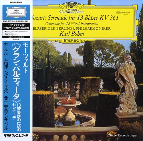 BOHM, KARL mozart; serenade for 13 wind instruments POJG-9004 - front cover