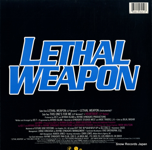 ICE-T lethal weapon 0-21325/21325-0 - back cover