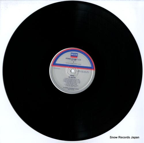 ASHKENAZY, VLADIMIR chopin; waltzes 414600-1 - disc