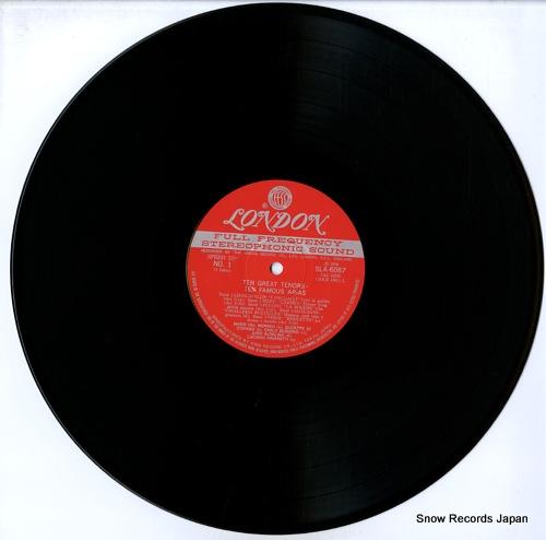 TEN GREAT TENORS ten famousarias SLA6087 - disc