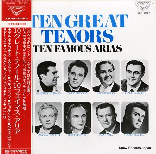 TEN GREAT TENORS ten famousarias SLA6087 - front cover