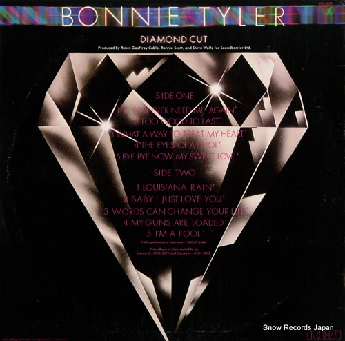 TYLER, BONNIE diamond cut AFL1-3072 - back cover