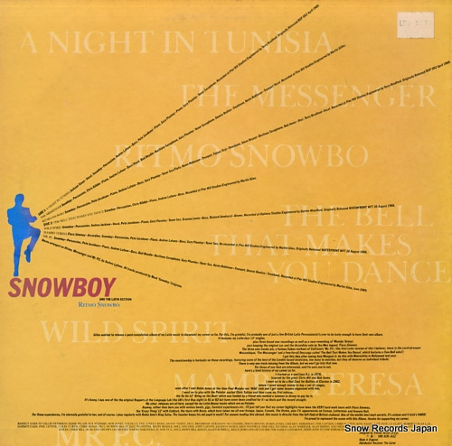 SNOWBOY AND THE LATIN SECTION ritmo snowbo JAZIDLP19 - back cover