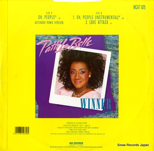 LABELLE, PATTI oh, people MCAT1075 - back cover