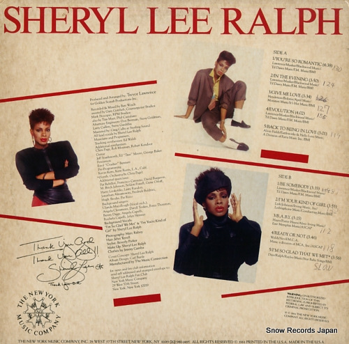 RALPH, SHERYL LEE in the evening NYM-12 - back cover