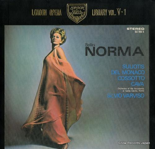 VARVISO, SILVIO bellini; norma (complete) SLC7055/6 - front cover