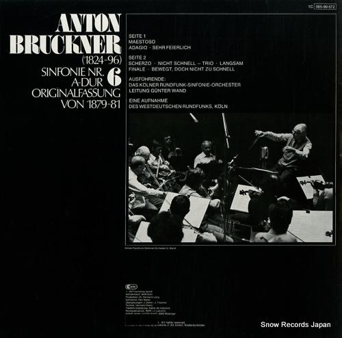 WAND, GUNTER bruckner; sinfonie nr.6 a-dur 1C065-99672 - back cover