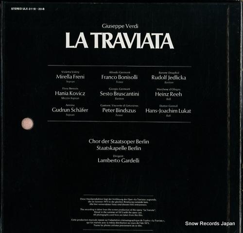 FRENI, MIRELLA / LAMBERTO GARDELLI verdi; la traviata (complete) ULX-3118-20-B - back cover