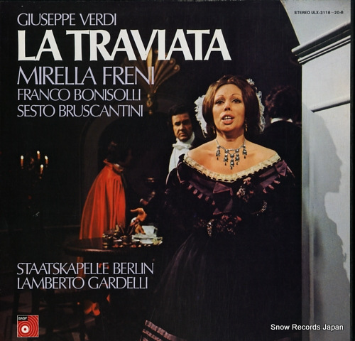 FRENI, MIRELLA / LAMBERTO GARDELLI verdi; la traviata (complete) ULX-3118-20-B - front cover