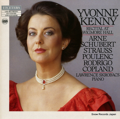 KENNY YVONNE recital at wigmore hall ETC1029 - front cover