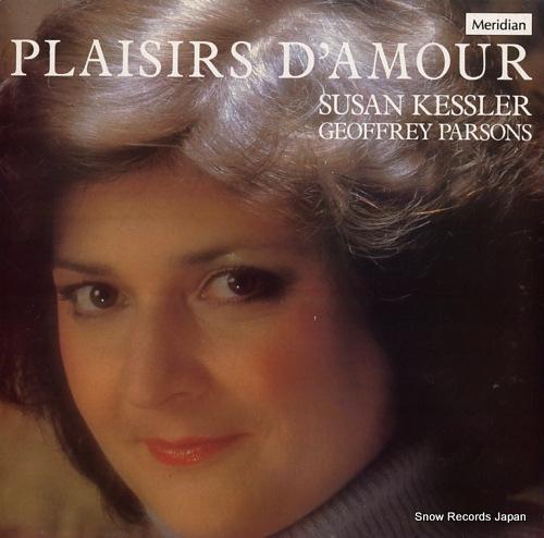 KESSLER, SUSAN / GEOFFREY PARSONS plaisir d'amour E77074 - front cover