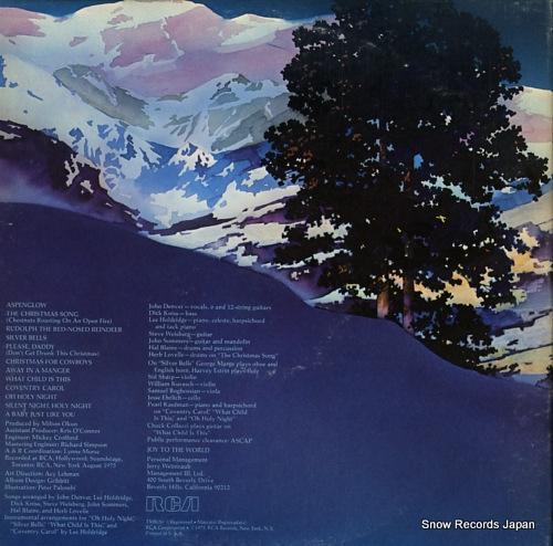 DENVER, JOHN rocky mountain christmas APL1-1201 - back cover