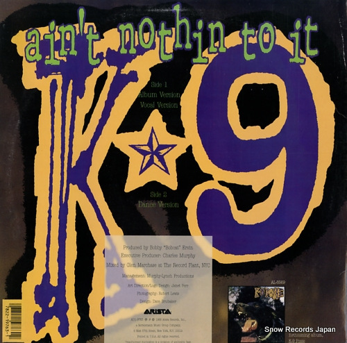 K-9 POSSE ain't nothin to it AD1-9763 - back cover