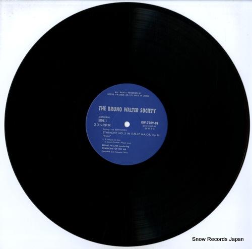 WALTER, BRUNO beethoven; symphony no.3 in e-flat major, op.55