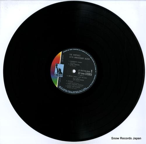 VENTURES, THE the ventures 10th anniversary album LP-9473B - disc