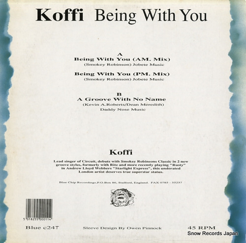 KOFFI being with you BLUEC24T - back cover