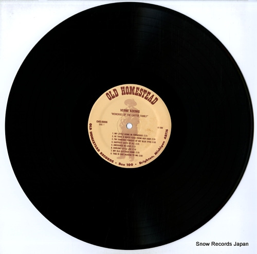 KOENIG, VERNE memories of the carter family OHS-80096 - disc