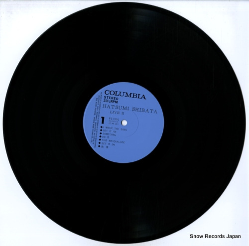 SHIBATA, HATSUMI live ii PZ-7001-2 - disc