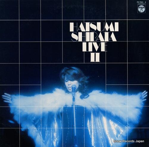 SHIBATA, HATSUMI live ii PZ-7001-2 - front cover