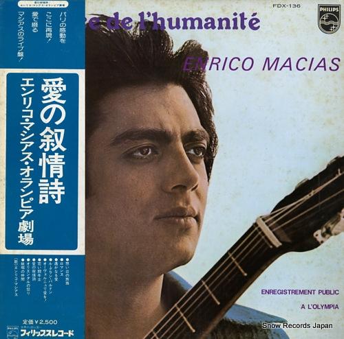 MACIAS, ENRICO a la face de l'humanite FDX-136 - front cover
