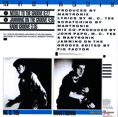 MANTRONIX needle to the groove SLX-00015 - back cover