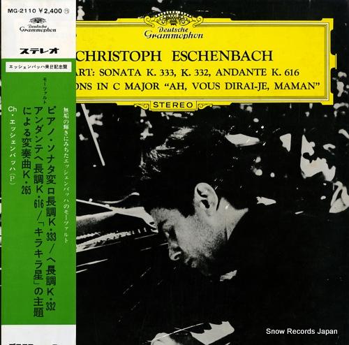 ESCHENBACH, CHRISTOPH mozart; sonata k.333, k.332 andante k.616 MG-2110 - front cover