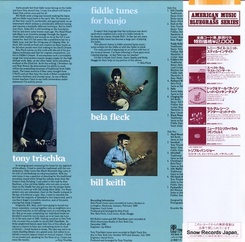 TRISCHKA, TONY, BILL KEITH, BELA FLECK fiddle tunes for banjo PA-20011 - back cover